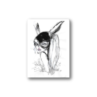 MR rabbit - white Stickers