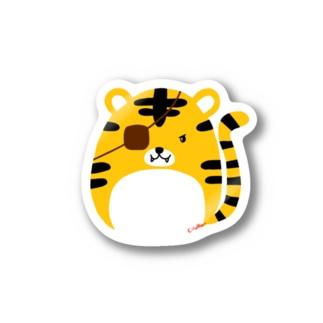 父トラに憧れる子トラ Stickers