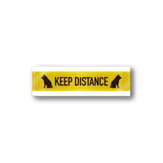 KEEP DISTANCE Stickers