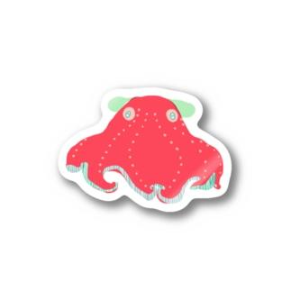 kyotsubeのカラフルメンダコ Stickers