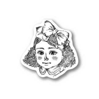 女の子(点描) Stickers