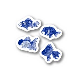 GYOBAYUMIのKINGYO ステッカー Stickers
