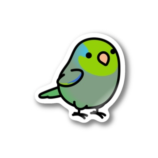 Chubby Bird マメルリハ Stickers