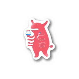 めんたいゴハンとガンバッテイキテルドン Stickers