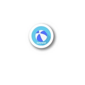 "motorpoolの投げ銭ステッカー""blue"" Stickers"