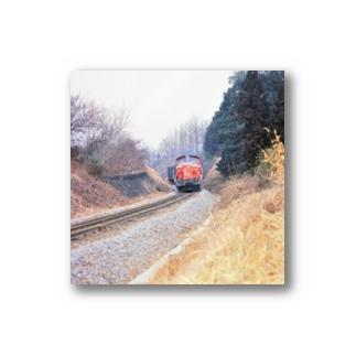 日本の鉄道:冬の八高線 Japanese rail: Cargo train at Hachiko-sen  Stickers