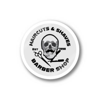 barber shop white Sticker
