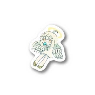 朝寝坊の天使(アイス) Stickers