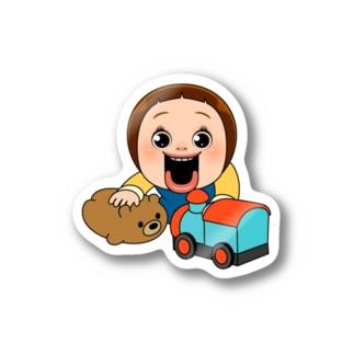 しょーちゃん ちびくまと汽車 Stickers