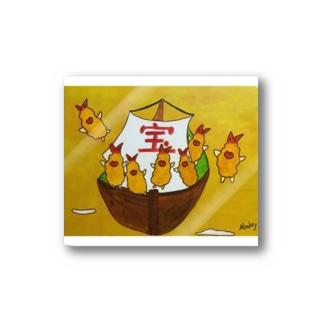 フラちゃんの宝船 Stickers