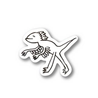 タレ目ディノ しゃくれ Stickers