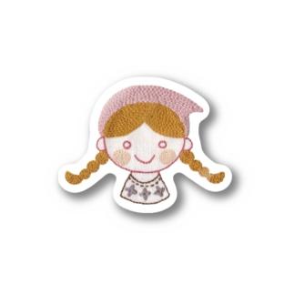 刺しゅうのhacobeちゃん Stickers