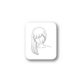 髪の毛 Stickers