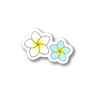 南国のプルメリア Stickers