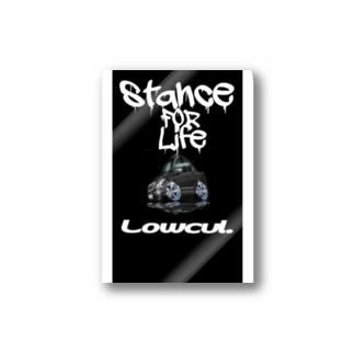 secretbaseartfactoryのstance vipcar Stickers