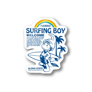 Surfing Boy ステッカー Stickers