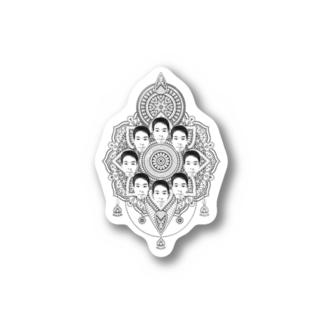 ヤマト総会-曼荼羅- ステッカー Stickers