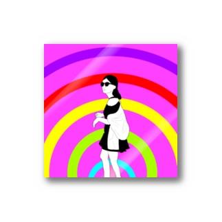 ハイカラ白黒さん Stickers