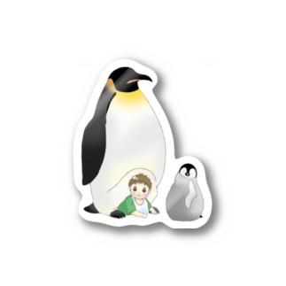 皇帝ペンギンとみーくん Stickers