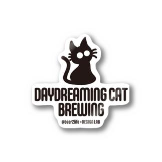 DaydreamingCatBrewing_logo Stickers