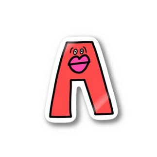 アルファベット A エー Stickers