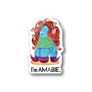 Tom Dish StoreのI'm AMABIE Stickers