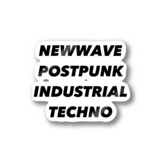 NEWWAVE POSTPUNK INDUSTRIAL TECHNO Sticker