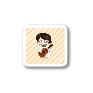 おっかあ(オレンジストライプ) Stickers