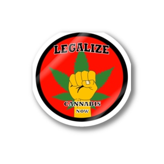 CJCステッカー/Legalize now red Stickers