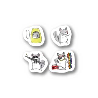 チンチラ ユニークステッカー Stickers