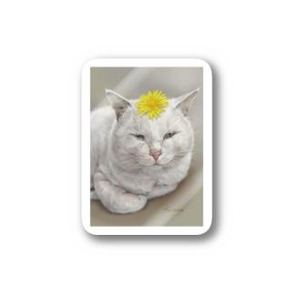 kinako-japanのしーちゃん たんぽぽのせて Stickers