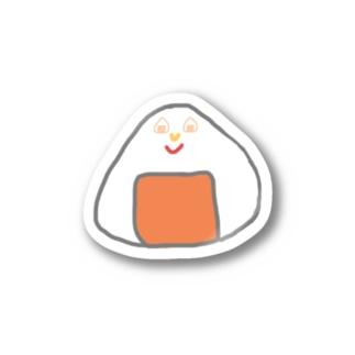 Orange rice ball boy Stickers