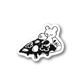 pizza bedオコジョ Stickers