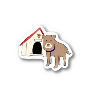 顔が四角い犬🐶 Stickers
