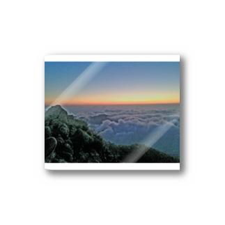 夜明け前 雲海 Stickers