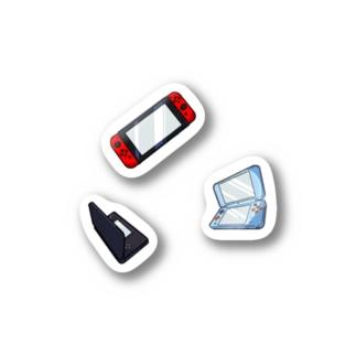 ゲーム機たち_いまどきセット Stickers