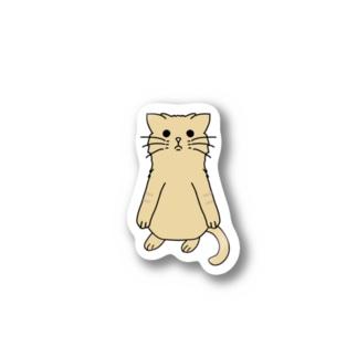 くろめのねこ Stickers
