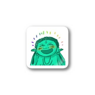 幸せ僧ステッカー(背景なし) Stickers