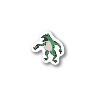바우-vAw-のQR決済をする蛙 Stickers