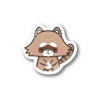 テ・アライグマ Stickers