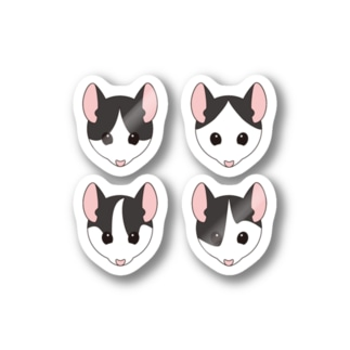 おんなのこパンダマウス Stickers