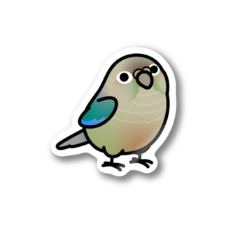 Chubby Bird ウロコインコ ターコイズシナモン Stickers