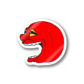 赤面ステッカー Stickers