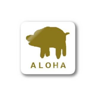 アメリカンベースのアロハ Stickers