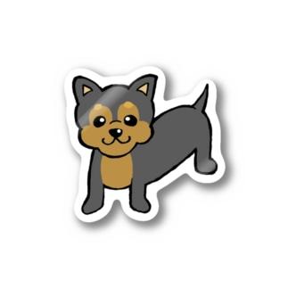 チワワえん(ブラック&タン) Stickers
