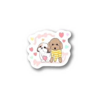 なかよし シーズー&プードル Stickers
