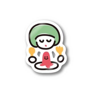 でっかい赤ちゃんこんにちはのタコさんウインナー Stickers
