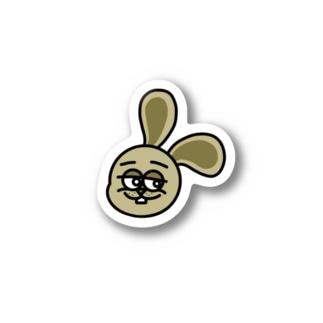 Weird rabbit(Yellow) Stickers