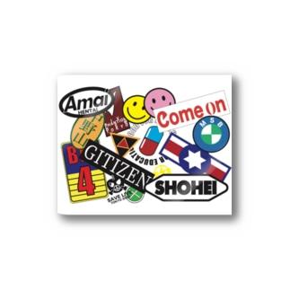 STUDIO ZUVOBOWのニュートーキョーシリーズ ホワイト Stickers