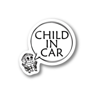 CHILD IN CAR ステッカー Stickers